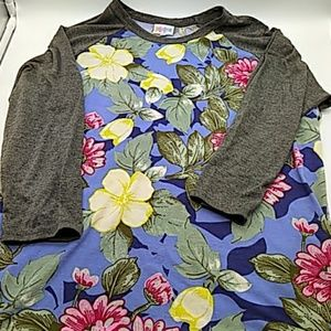 LuLaRoe Womens shirt floral Large pre owned